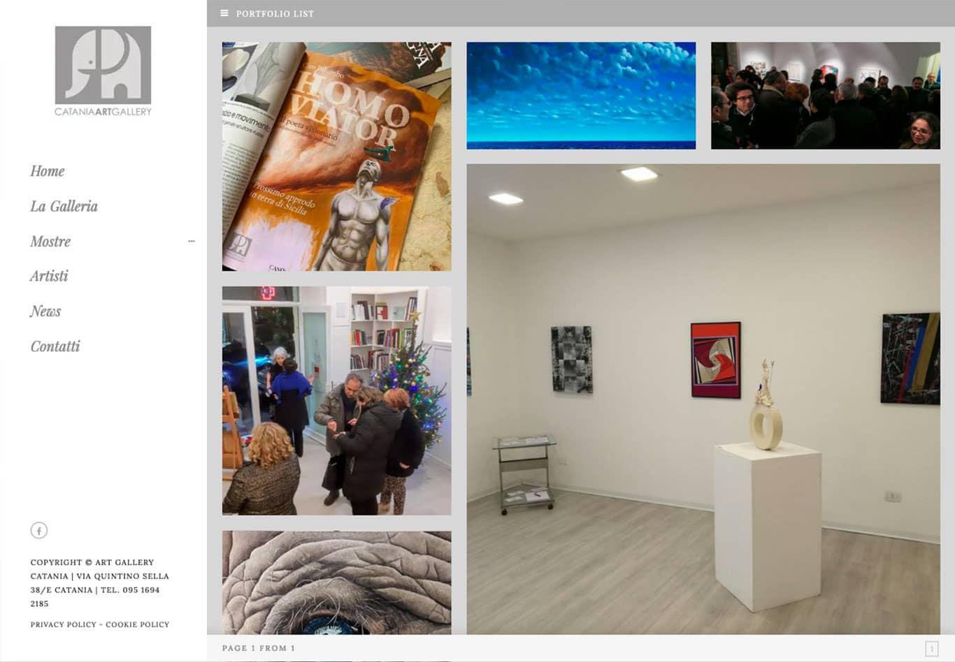 screenshot i nostri successi con Art Gallery Catania
