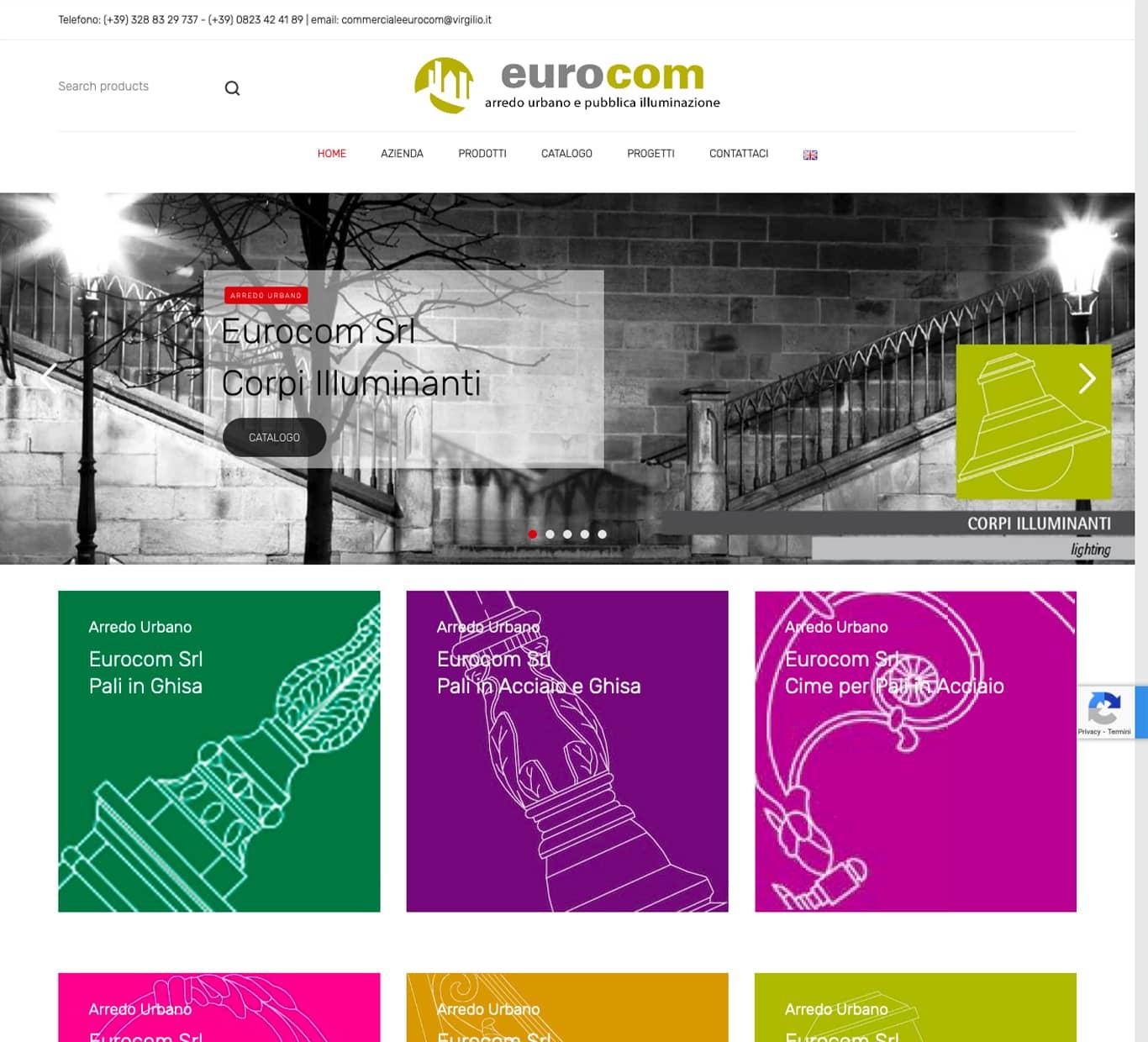 screenshot i nostri successi con Eurocom Arredo Urbano